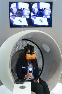 Fortschritt: Mit Oculus Rift in die First Class der Lufthansa eintauchen.