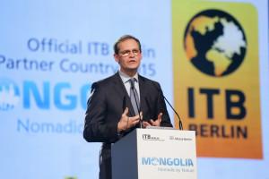 Eröffnungsfeier der ITB - der Berliner Bürgermeister