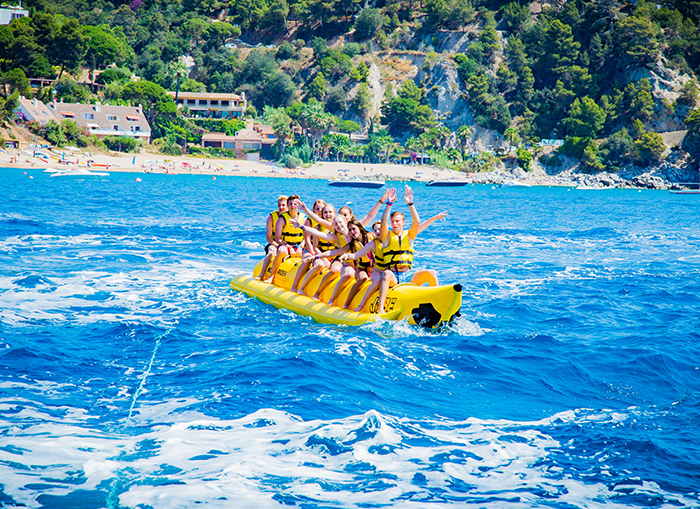 Beachparty Ausflug - Malgrat de Mar - Bananaboat